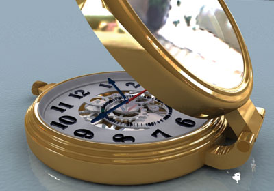 Relógio em pormenor